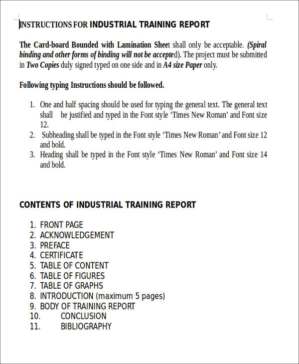 41 sample reports in doc industrial training report yadclub
