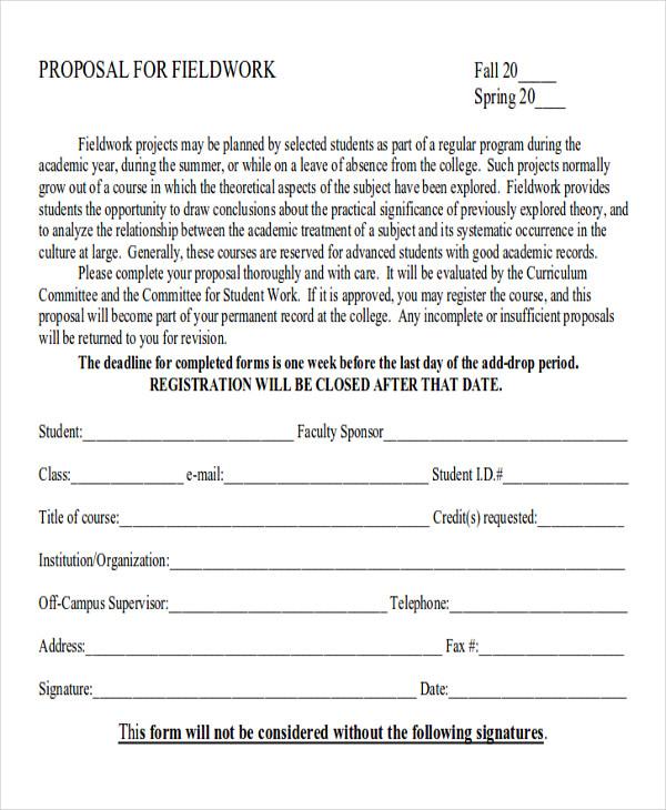 field work proposal form1