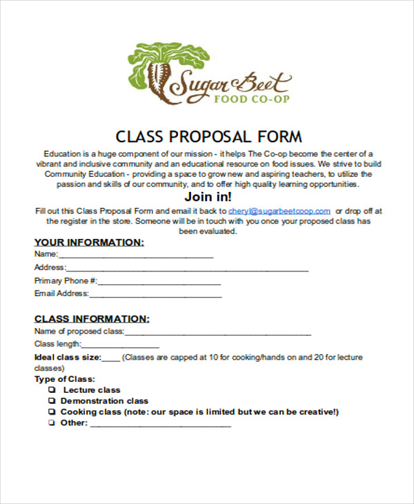 46 sample proposal forms sample templates for Community service proposal template