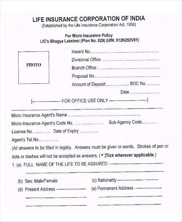 lic policy surrender proposal form