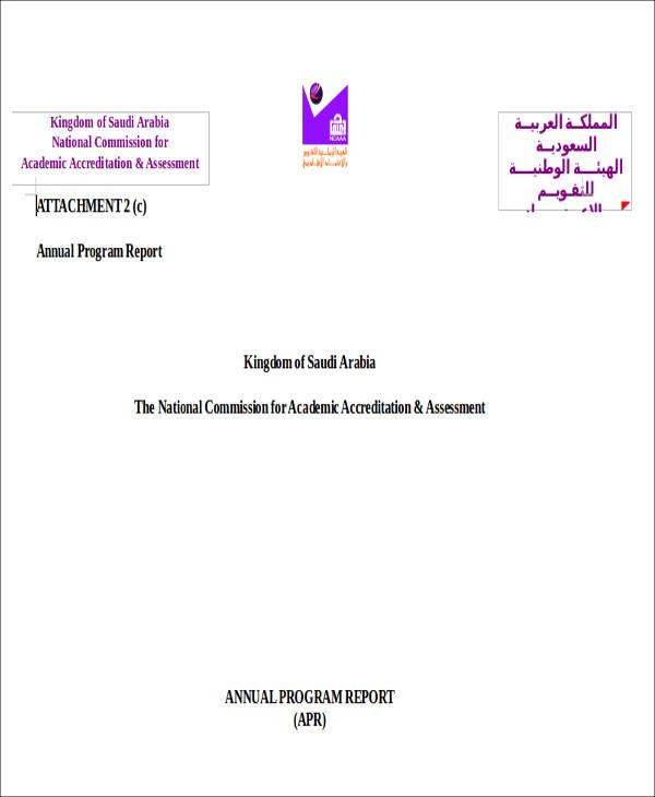 annual program report