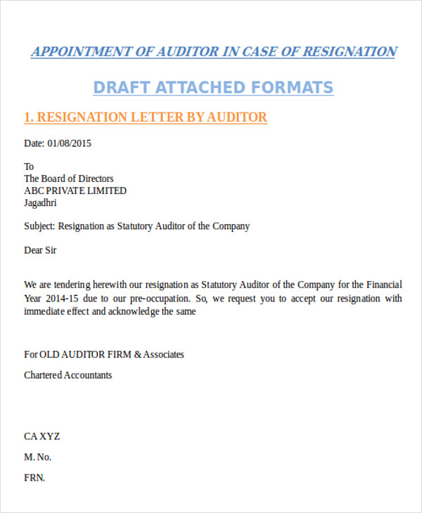 Resignation Letter Formats  Templates  Pdf Doc