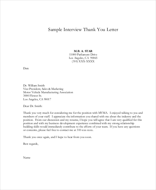 interview thank you letter1