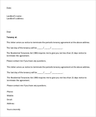 landlord tenant letter