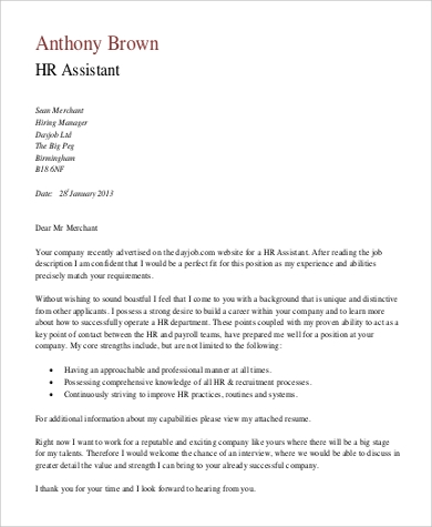 free medical assistant cover letter - Cover Letter To Hr Department