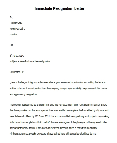Simple Resignation Letters