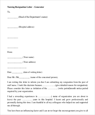 30+ Simple Resignation Letters | Sample Templates