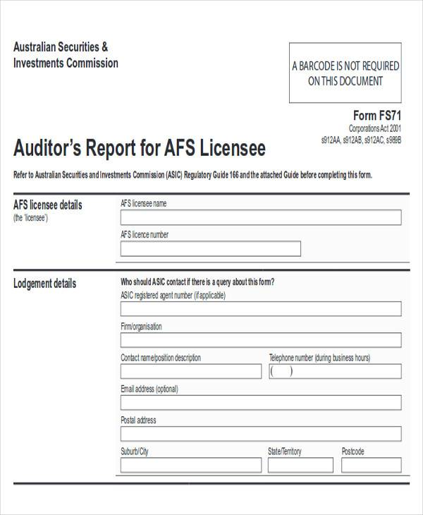 printable qualified audit report