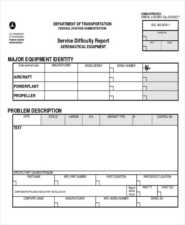 Sample Service Report  Free Sample Example Format Download