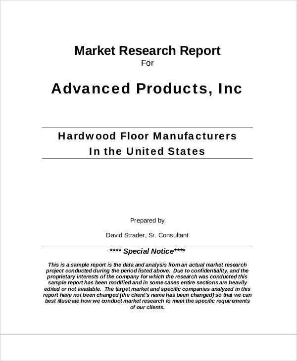 market research report2