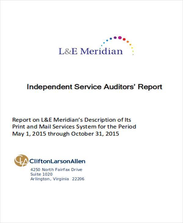 service auditor report pdf