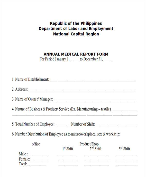 8 sample medical reports pdf word sample templates for Dr test report template