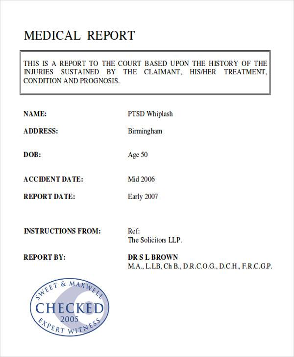 8 Sample Medical Reports Pdf Word