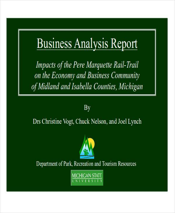 Charming Business Analysis Report Format  Business Analysis Report Example