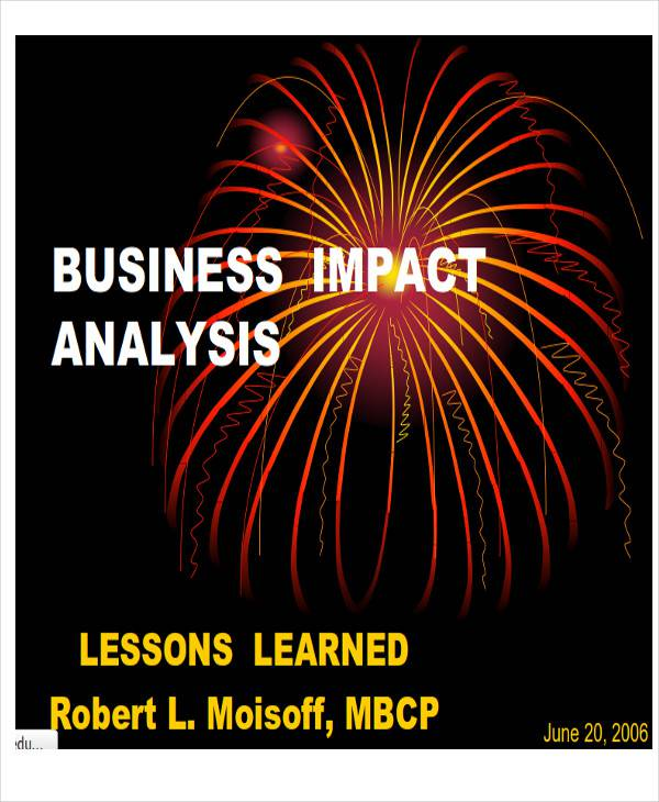 business impact analysis report