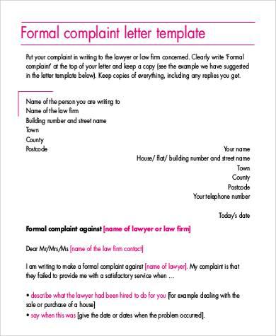 formal complaint letter2