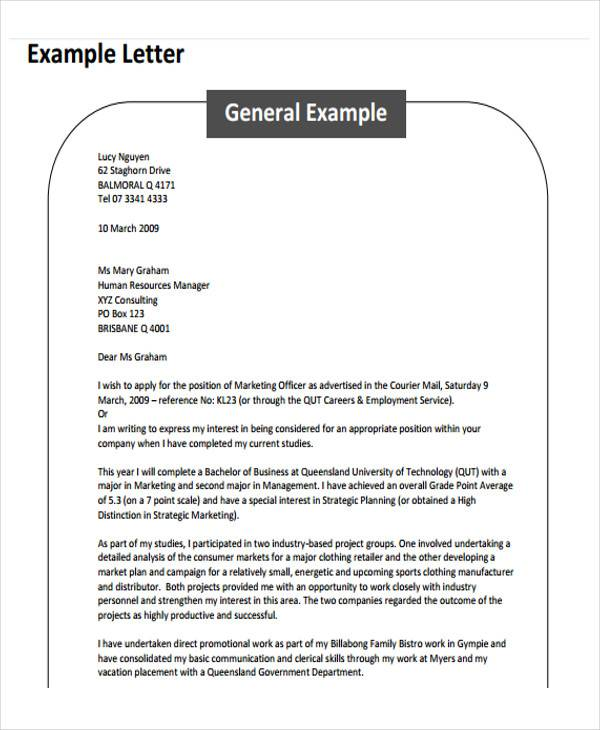 Formal Business Request Letter Format