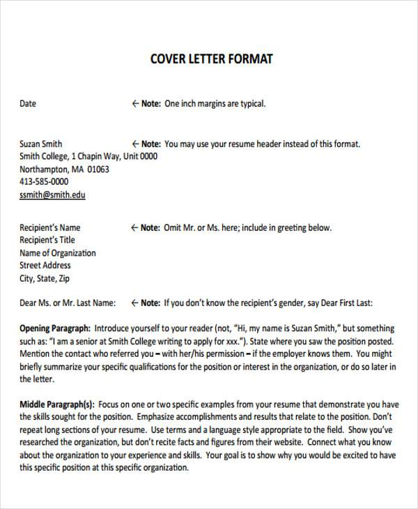 Sample formal letter format 34 examples in pdf word formal resume cover letter format spiritdancerdesigns Images