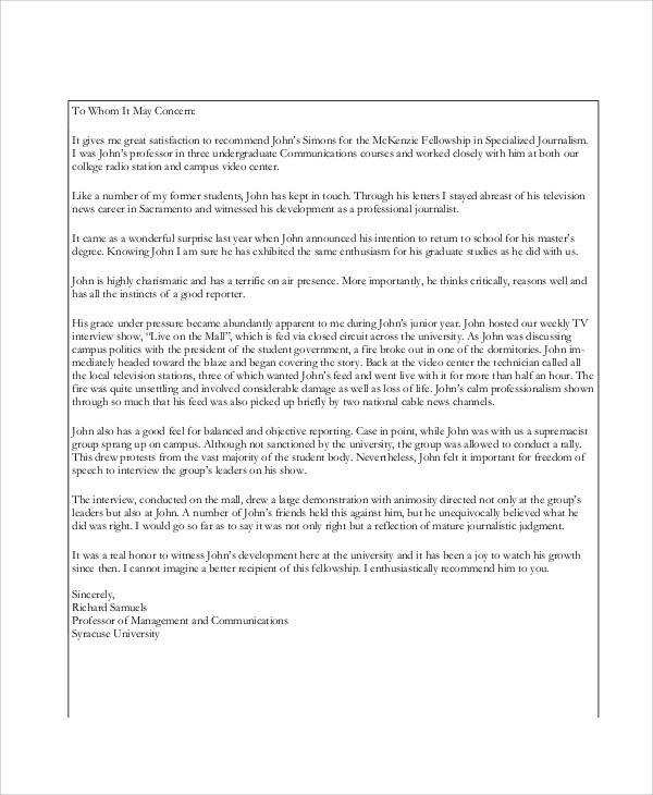 FREE 38+ Sample Recommendation Letter Templates in PDF