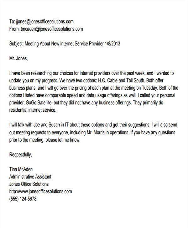 formal email business letter