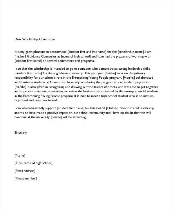 Sample Recommendation Letters In Pdf