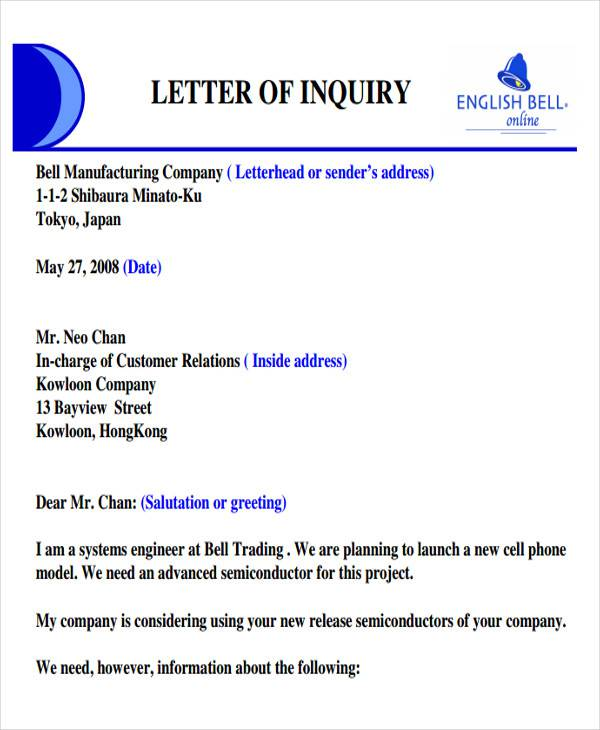 product inquiry business letter2