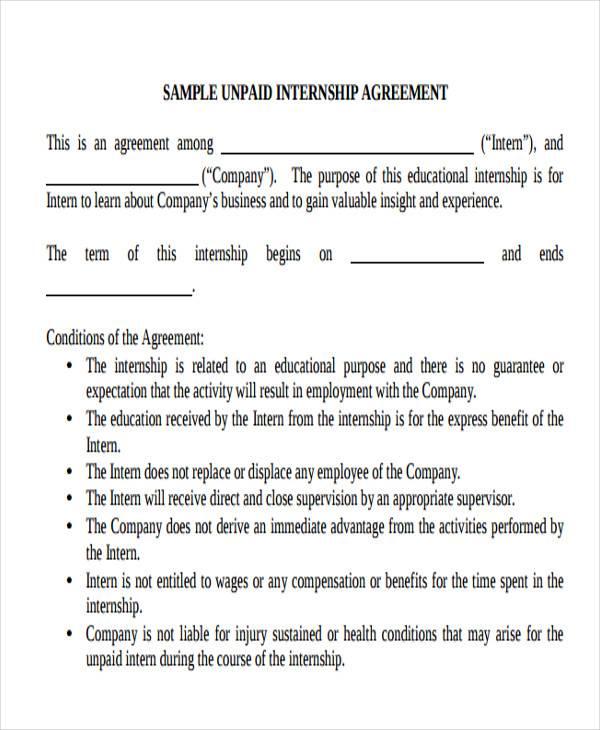internship job offer letter