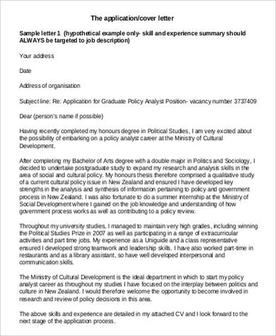 application cover letter