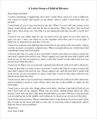 letter from a child of divorce
