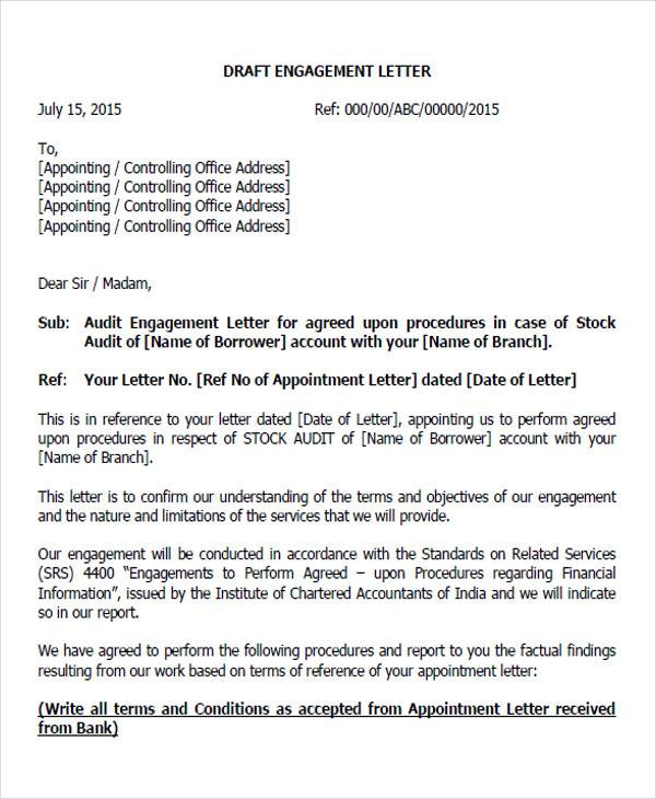 draft auditor appointment letter