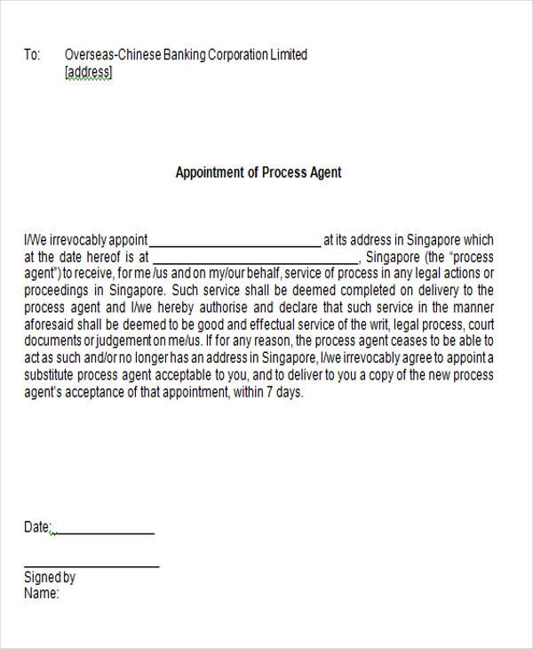 process agent appointment letter1