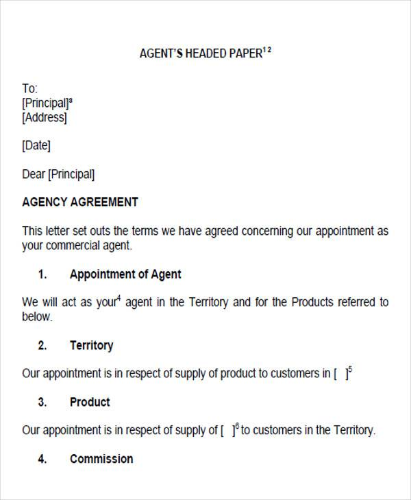 property agent appointment letter