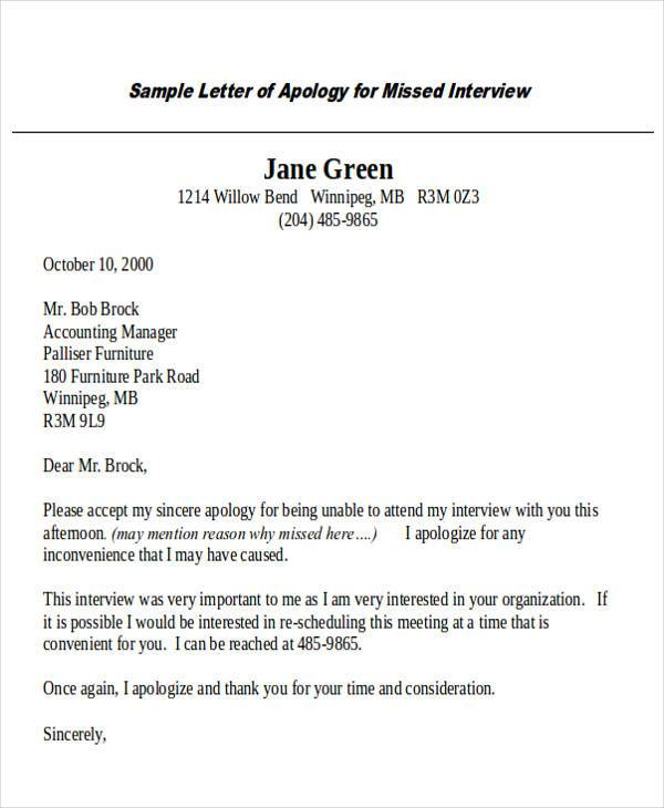 32 Formal Apology Letters Sample Templates
