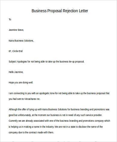 business proposal rejection letter1