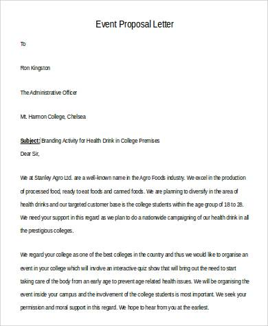 event proposal letter in word