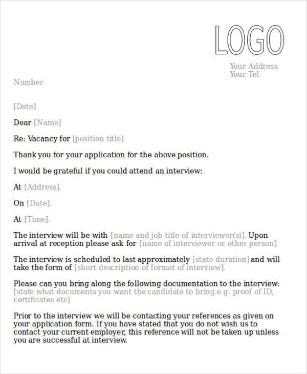 Job letter format job interview confirmation letter thecheapjerseys Image collections