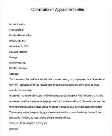 confirmation of appointment letter1