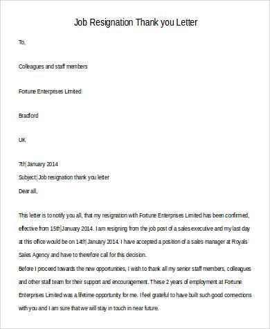 job resignation thank you letter2
