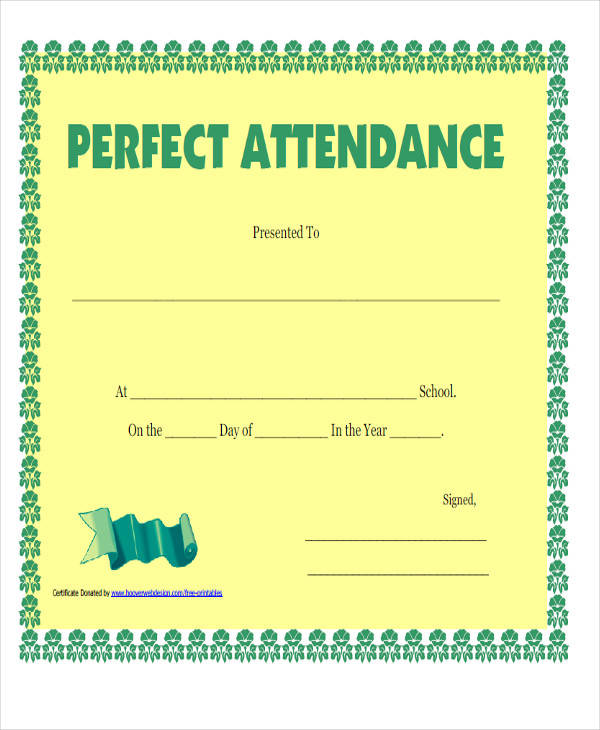 100 attendance certificate template 28 images merit