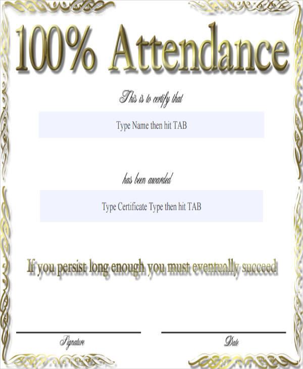 100 attendance award certificate1
