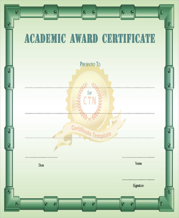 academic certificate templates 28 images award