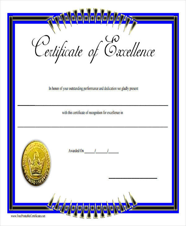 academic excellence award certificate1