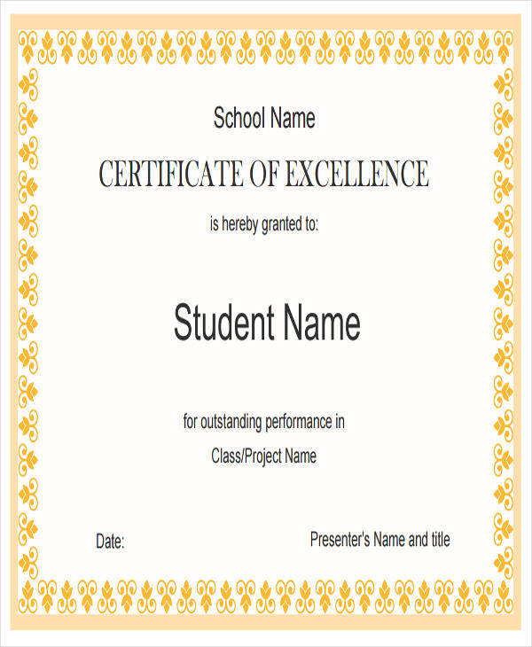 academic excellence award certificate2
