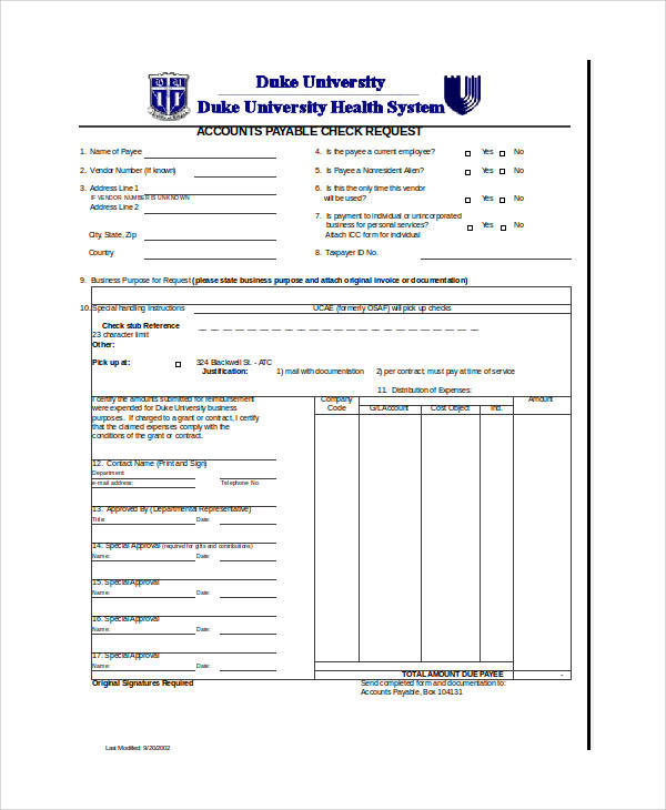 accounts payable check requisition form