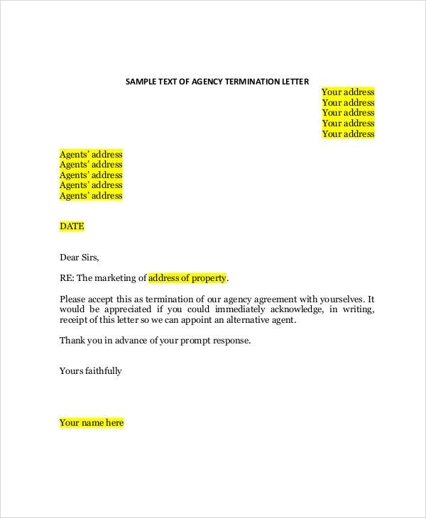 agency agreement termination letter1