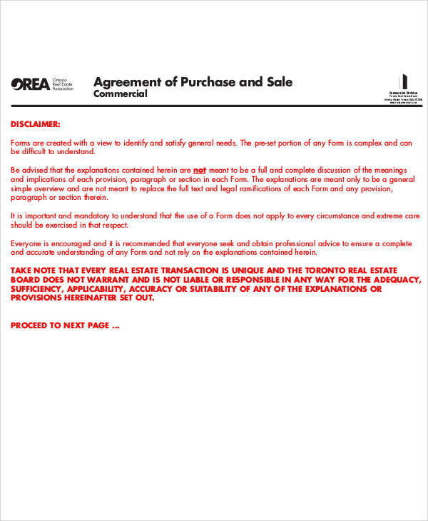 agreement of purchase and sale1