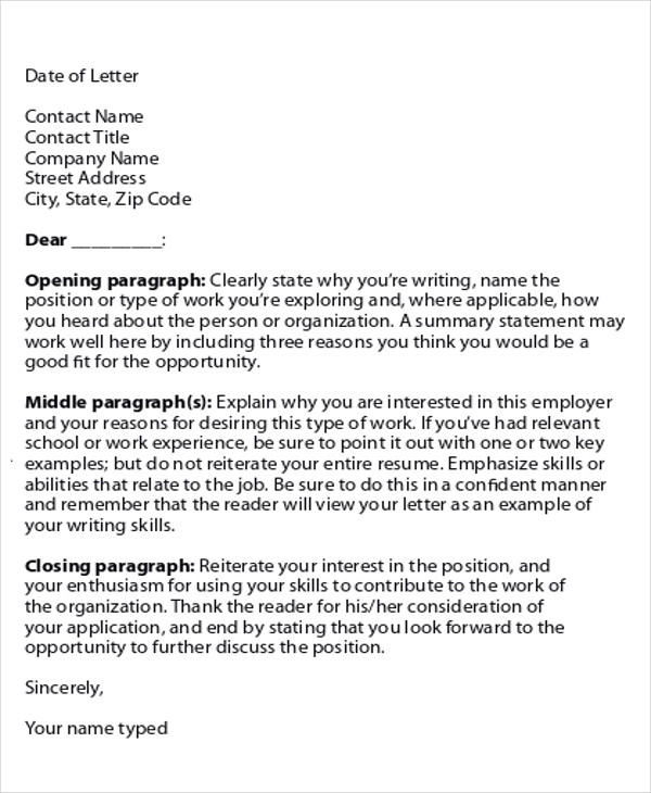 application job cover letter