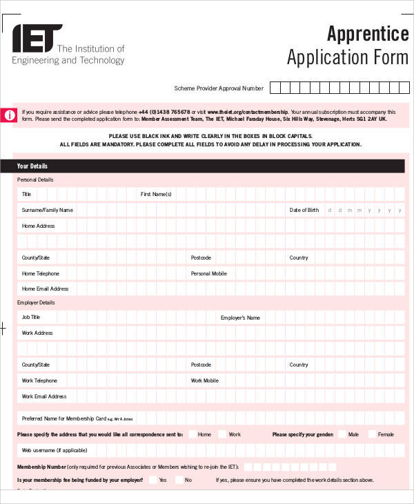 credit account application form template nz