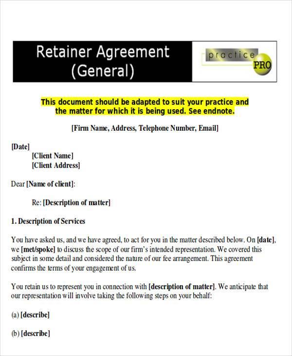 attorney retainer agreement