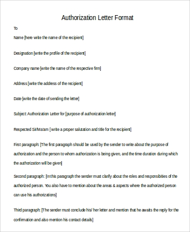 46 examples of authorization letter pdf word pages sample authorization letter format in word spiritdancerdesigns Gallery